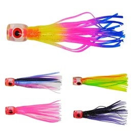 Game fishinG lures hooks online shopping - 4 inch soft head octoputs skirt trolling fishing lures Baits no hook Big game sea saltwater Soft baits