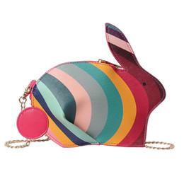 Color Leather Bags Australia - Cute Rabbit Shape Women Single Shoulder Bag Rainbow Color Women Message Crossbody Bag Mini Small Pu Leather Girls Bags 2019 New