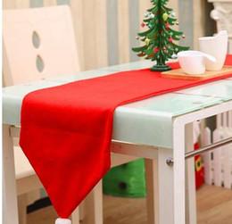 Christmas Tables Canada - Christmas Table Runner 34*176cm Tablecloth XMAS Party Dinner Table Decor Home Hotel Christmas Decoration