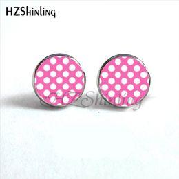 114856548 2019 Polka Dot Earrings Colorful Dots Stud Earring Polka Dots Glass Dome  Earrings For Women HZ4 NES-0048