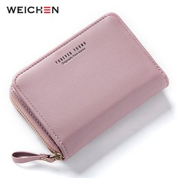 passport case women Australia - New Women Wallet Many Departments Card Holder Foldable Ladies Small Purse Zipper Card Case High Quality Female Wallets