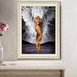 Sticker Angel Wings Australia - DIY 5D Diamond Painting Angel Wings Living Room Bedroom Cross-stitch Brick and Stone Sticker Full Drill 30x40cm
