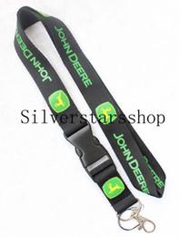 Key Cell Phone Badge Holder Australia - Automobile wind JOHN DEERE Lanyard Keychain Key Chain ID Badge cell phone holder Neck Strap black and green.