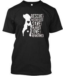 b5cd677bfd89 mens designer t shirts shirt Rescue Save Love Animal Dog Lover - Mistreated  Injured Popular Tagless Tee T-Shirt