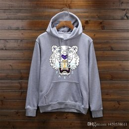 Tiger hoodies online shopping - New Paris tiger head Hoodies Men Women Casual Pullover Streetwear Sweatshirt Sudadera Hombre Harajuku Male Hoodie Women Tops kenz