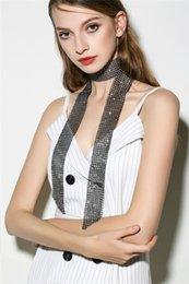 $enCountryForm.capitalKeyWord Australia - Fashion Long Crystal Choker Necklace Gold Black Rose Red Diamond Rehinstone Collar Summer Scarf for Women Jewelry
