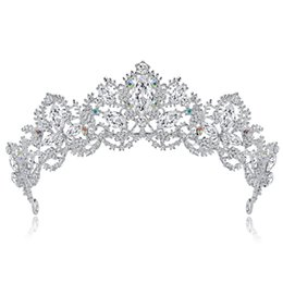 China Cross-border e-commerce explosions bride wedding dinner crown rhinestone hair accessories adult bride big crown jewelry spot cheap stainless crosses suppliers