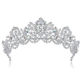 $enCountryForm.capitalKeyWord UK - Cross-border e-commerce explosions bride wedding dinner crown rhinestone hair accessories adult bride big crown jewelry spot