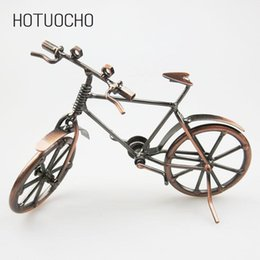 iron metal crafts Canada - Hotuocho Creative Iron Art Bicycle Model Metal Handicraft Ornaments Home Decor Miniature Figurines Gift Craft For Kids Friends T200703