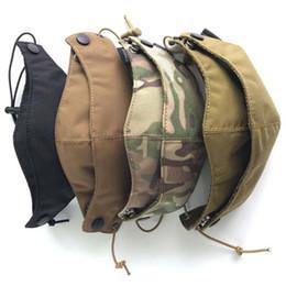 Tactical Protective Gear Australia - Cordura Half Face Mask Tactical Protective Gear Camouflage Multicam Mask Cycling Gauze Free Shipping