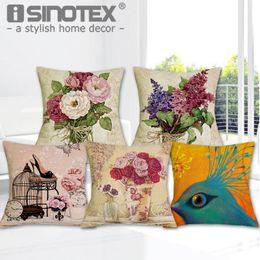 $enCountryForm.capitalKeyWord Australia - ome Textile Cover Luxury Flower and Vase Cushion Cover Decorative Pillowcase Bed Car Decor Sofa Vintage Modern Cushion Coussin Home Deco...