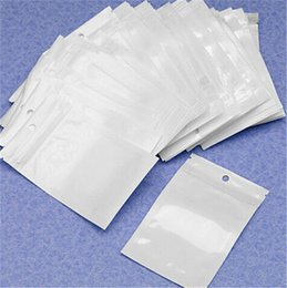 $enCountryForm.capitalKeyWord Australia - Best Quality Clear+ white pearl Plastic Poly OPP packing zipper Zip lock Retail Packages Jewelry food PVC plastic bag for usb cable earphone