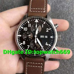 luxury brown leather watch Australia - ZF Top Luxury 377713 Watch 7750 Automatic Chronograph Movement Stainless Steel Case Brown Dial Brown Leather Strap Mens Watches
