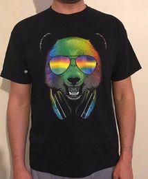 $enCountryForm.capitalKeyWord NZ - Bear T-shirt DJ Cool Colourful Print Unisex Black Matching Set Men Kids T-shirt jacket croatia leather tshirt