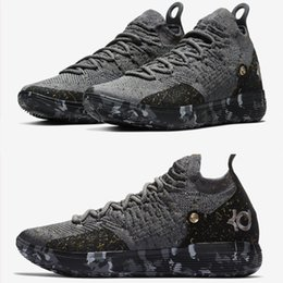 Discount kd casual shoes - Top quality KD 11 Casual Shoes Gold Splatter Kevin Durant 11s Designer Multi-Color Metallic Gold Mens shoes 21