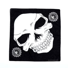 $enCountryForm.capitalKeyWord Australia - 2019 100% Cotton Hip-hop Bandana Male Female Square Scarf Wristband Vintage Pocket Towel Halloween Headband Skull Bandana Mask