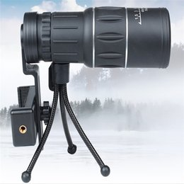16x52 Hd Monocular Telescopes Australia - Wholesale-Top Quality 16x52 Zoom HD Monocular Outdoor Telescope With Portable Tripod Night Version Spotting Scope OTC001