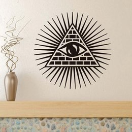 $enCountryForm.capitalKeyWord Australia - 1 Pcs All Seeing Eye Wall Sticker Vinyl Decal Removable Creative Art Murals DIY Wall Decals Home Decor Quotes Waterproof