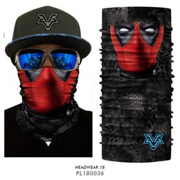 $enCountryForm.capitalKeyWord Australia - 3D Seamless Bandana Comic Deadpool Headband Skull Joker Neck Warmer Face Mask V for vendetta Bandana Buffs Cycling Ski Balaclava