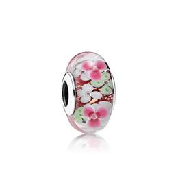 $enCountryForm.capitalKeyWord Australia - NEW 100% Sterling Silver 1:1 Glamour 791652 Flower Garden Charm Glass Bead Original Women Wedding Fashion Jewelry 2018