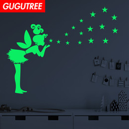 $enCountryForm.capitalKeyWord Australia - Decorate Home Diy angel star cartoon art glow wall sticker decoration Decals mural painting Removable Decor Wallpaper G-558