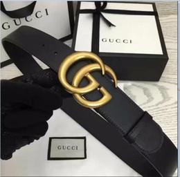 34ae49fe92d 2019 Cinturones GUCCI para hombre Serpiente Real de cuero genuino Cinturones  de negocios Mujeres Big Gold Buckle con caja original Negro Rojo A1217