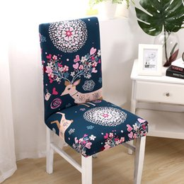 $enCountryForm.capitalKeyWord Australia - 4 6Pcs flowers universal size Chair Cover Classic Chair Covers seat cover for home dining room weddings Hotel Party Banquet