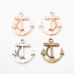 Vintage anchors necklace online shopping - Vintage Charms Anchor Pendant Fit Bracelets Necklace DIY Metal Jewelry Making