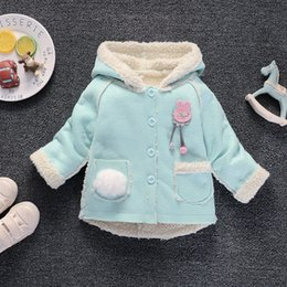 Kids Clothes Girl Autumn Winter Australia - good quality baby girls jacket fur hooded girls coat new spring top autumn winter warm kids clothes outerwear baby tops girl coats