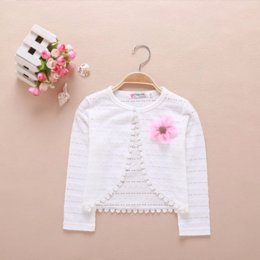 Baby Girls Spring Jackets Australia - Famli Kid Girls Bolero Full Jacket Children Girl Spring Casual Cardigan Outerwear Summer Baby Kids White Lace Cotton Shawl Coat