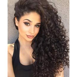Parrucche per capelli umani con attaccatura dei capelli naturale per donne nere Vergini peruviane onda profonda pizzo parrucche anteriori Attaccatura dei capelli naturale in Offerta