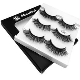 $enCountryForm.capitalKeyWord Australia - 3 Pairs Of False Eyelashes Soft Long Feather Nautral Handmade False Eyelash Extension Beauty Makeup Tool Individual Lashes +
