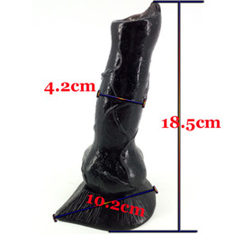 Large Masturbation Toy For Men Australia - Realistic Dog Dildo Large Wolf Dildo Animal Bdsm SM Sex Toys for Men Fetish Women Stuffed Dildo G-Spot Masturbation Anal Plug Toy Cheap