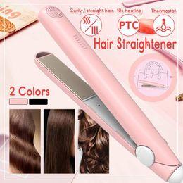 Hot tools straigHtening iron online shopping - 220V Portable Mini Electronic Hair Straightener Iron Straightening Curling Iron Hair Hot Styling Tools