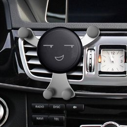 vehicle phone holder Australia - Kawaii Face Expression Design Car Air Vent Vehicle Cradle Holder Mount For Cell Phone