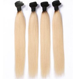 Blond human hair online shopping - 1b Ombre Brazilian Straight Hair Bundles Blond Remy Hair Human Hair Bundles Healthy End Pieces Fast Shipping