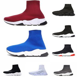 low cut trainer socks 2019 - 2019 Paris Designer Socks shoes fashion women sneakers speed trainers black white blue glitter mens trainers casual shoe