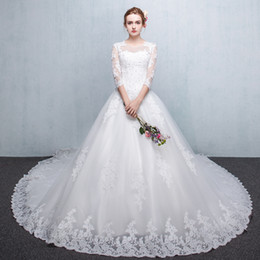 $enCountryForm.capitalKeyWord Australia - French long sleeve wedding dresses the bride the new winter trailing big red back yard neat, Audrey Hepburn