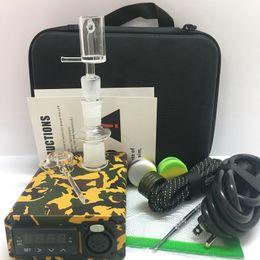 $enCountryForm.capitalKeyWord Australia - Portable Quartz E nail kit enail bong PID box male female joint fit 110 220V 20mm coil heater club banger electric nail dab oil rigs