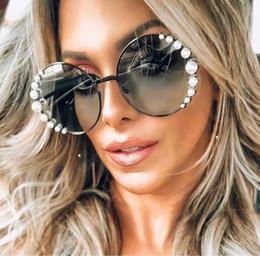 $enCountryForm.capitalKeyWord Australia - Women Oversized Sunglasses Round Big Frame Sunglasses for Women Brand Pearly Shades UV400 Protection Sun Glass 0295S Come With Original Case