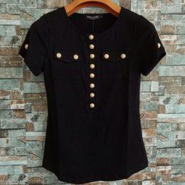 ShirtS formal online shopping - Balmain Womens T Shirts Balmain High Quality Buttons Women Shirts Tops Luxury Womens Designer Clothing Tees Size S L