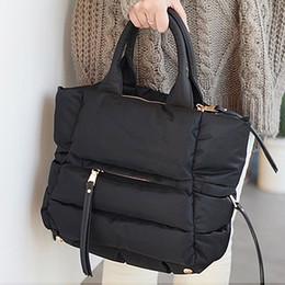 Ladies Cotton Handbags Australia - 2018 New Winter Space Bale Handbag Woman Casual Space Cotton Totes Bag Down Feather Padded Lady Shoulder Crossbody Bag Y19051502