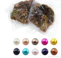$enCountryForm.capitalKeyWord Australia - 100 Pcs Seawater Akoya Shell Pearls Oyster 28 colors Mixed Colors 6-7 mm Cultured Round Pearl Oyster Vacuum Packing Free Shipping