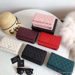 $enCountryForm.capitalKeyWord NZ - The New Mini Chain Lambskin Ling Lattice Inclined Shoulder Womens Woman Bags Vintage Bag Genuine Leather Handbag Designer Purses Tote