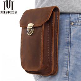 $enCountryForm.capitalKeyWord Australia - Misfits 2018 New Genuine Leather Vintage Waist Packs Men Travel Fanny Pack Belt Loops Hip Bum Bag Waist Bag Mobile Phone Pouch J190521
