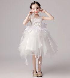 $enCountryForm.capitalKeyWord NZ - Beauty Ivory Jewel Tulle Applique Girl's Pageant Dresses Flower Girl Dresses Princess Party Dresses Child Skirt Custom Made 2-14 H314325