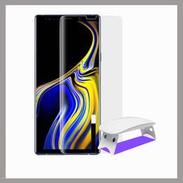 Uv Coating Liquid Australia - Samsung S9 toughening film note9 full adhesive toughening film mobile phone nano liquid coating note8 uv toughening film