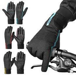 Boys Bike Bicycle Cycle Australia - New Cycling Gloves Full-fingered Mountain Bike Gloves Road Bicycle Motorbike Autumn Winter #288126