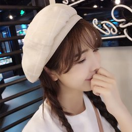 ddac0a84cea Hats Spring And Summer Women s Fashion To Match The Korean Version Of Sweet  And Lovely Octagonal Hat British Students Fashion Grid Beret