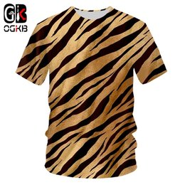 best printed shirts Australia - Ogkb Summer Man Black White Leopard Print O Neck Tshirt 3d Printed Best Selling Big Size Clothing Men's T Shirt Y19050701